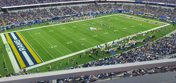 SoFi Stadium, section: 344, row: 1, seat: 19