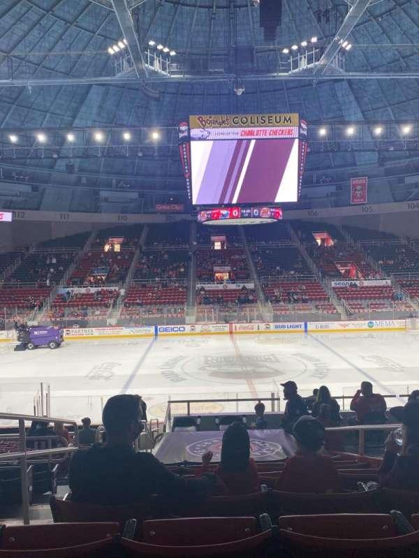 Bojangles' Coliseum, section: 123, row: R, seat: 13