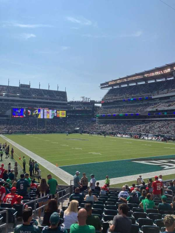 Lincoln Financial Field, section: 127, row: 17, seat: 15