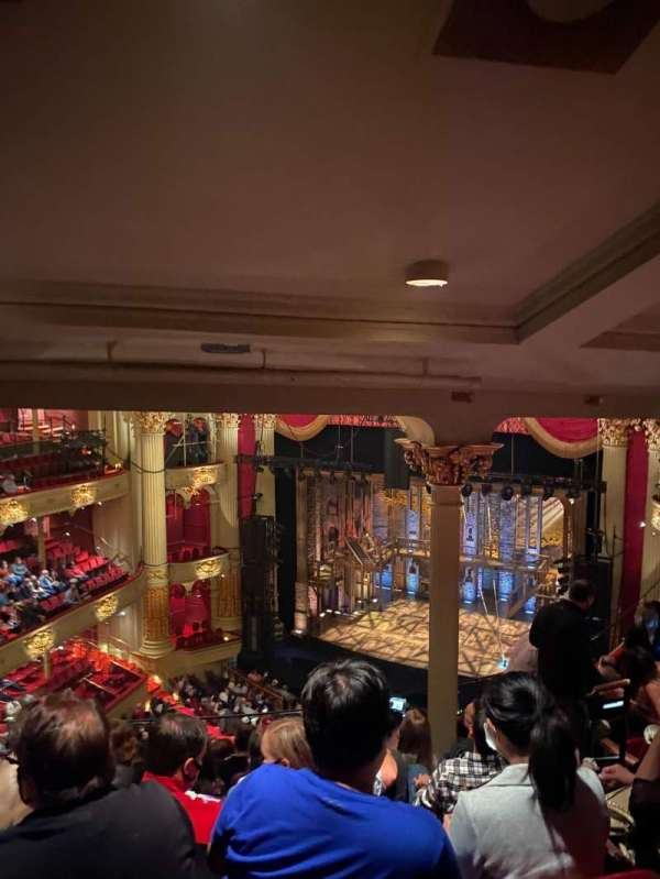 Academy of Music, section: Family Circle, row: H, seat: 20