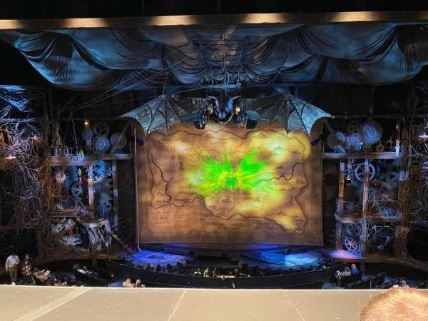 Gershwin Theatre, section: Mezzanine, row: B, seat: 111