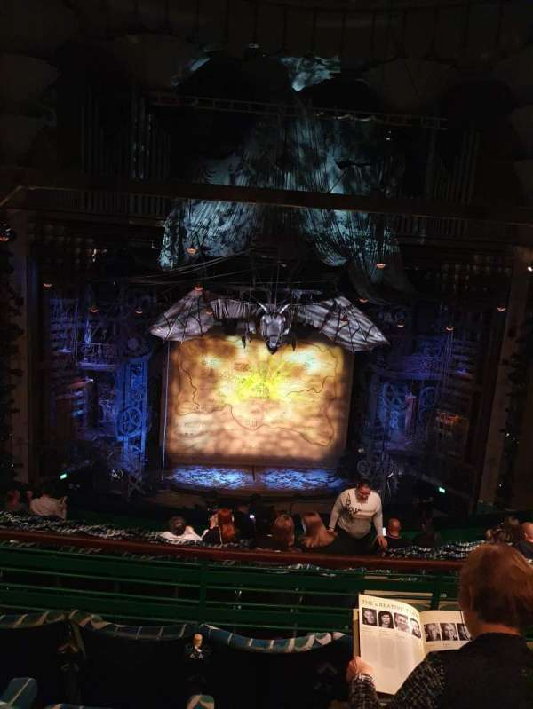 Apollo Victoria Theatre, section: Dress circle, row: K, seat: 33