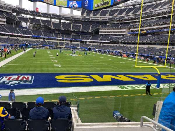SoFi Stadium, section: 120, row: 7, seat: 10