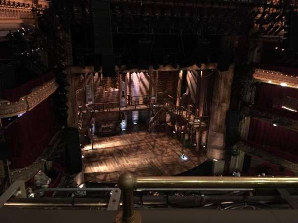CIBC Theatre, section: Balcony L, row: B, seat: 1