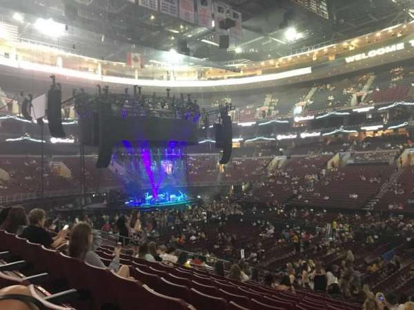 Wells Fargo Center, section: 102, row: 18, seat: 12