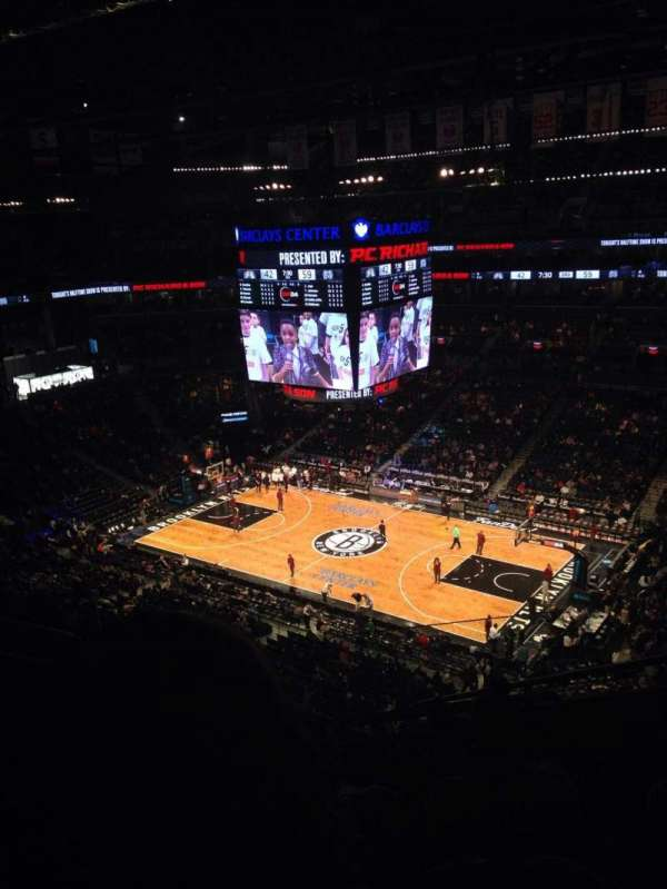 Barclays Center, section: 221, row: 7, seat: 4