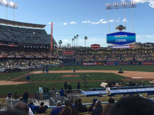 Dodger Stadium, section: 14FD, row: S, seat: 1