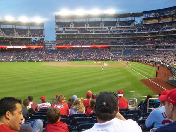 Nationals Park, section: 105, row: K, seat: 5
