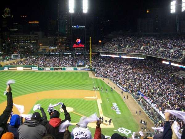 Comerica Park, section: 332, row: 10, seat: 9