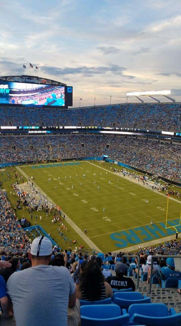 Bank of America Stadium, section: 533, row: 24, seat: 3