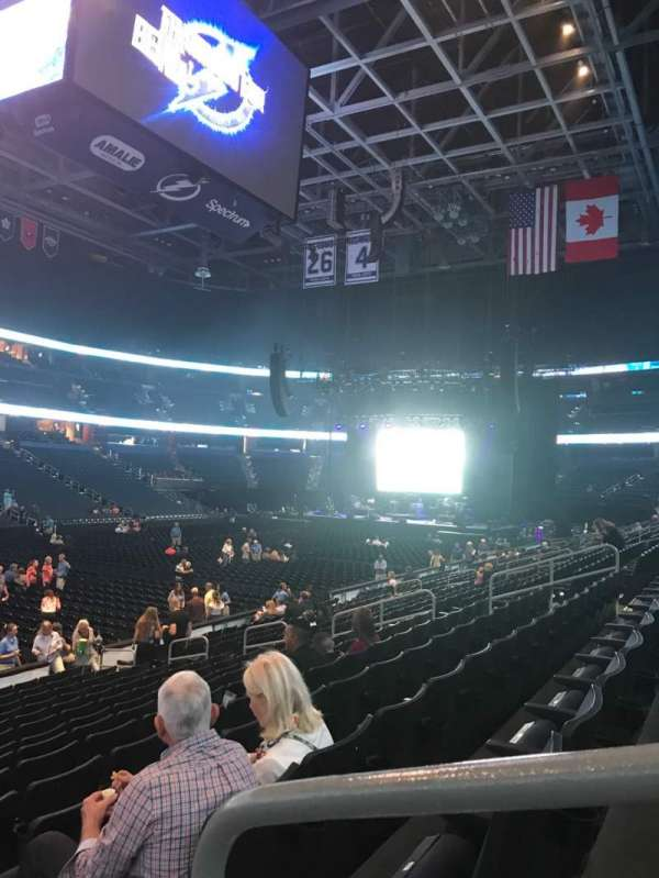 Amalie Arena, section: 104, row: P, seat: 1
