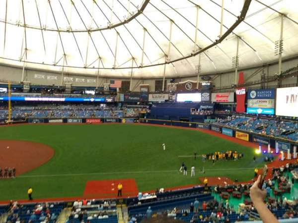 Tropicana Field, section: 216, row: B, seat: 19