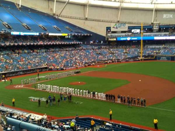 Is Under An Overhang At Tropicana Field