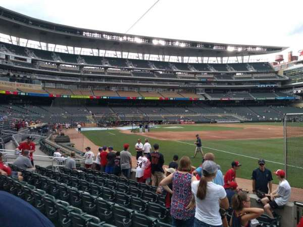Target Field, section: 103, row: 8, seat: 24
