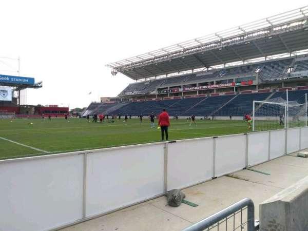 SeatGeek Stadium, section: 120, row: 1, seat: 1