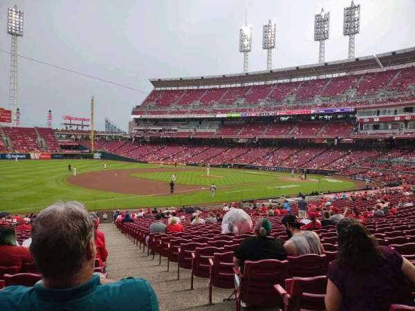 Great American Ball Park, section: 112, row: HH, seat: 1
