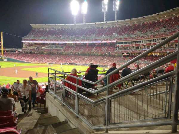 Great American Ball Park, section: 112, row: NN, seat: 1