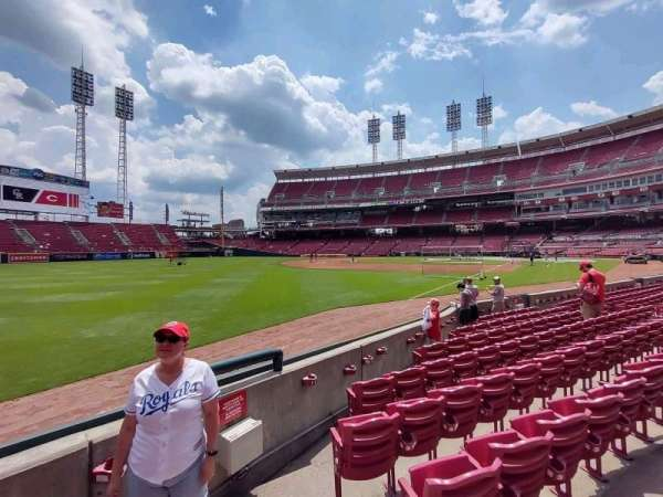 Great American Ball Park, section: 110, row: H, seat: 1