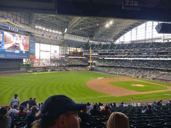 American Family Field, section: 228, row: 18, seat: 14