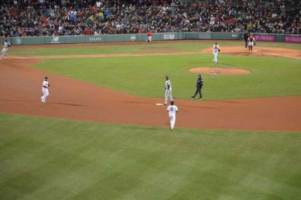 Fenway Park, section: Green Monster 10, row: 1, seat: 5