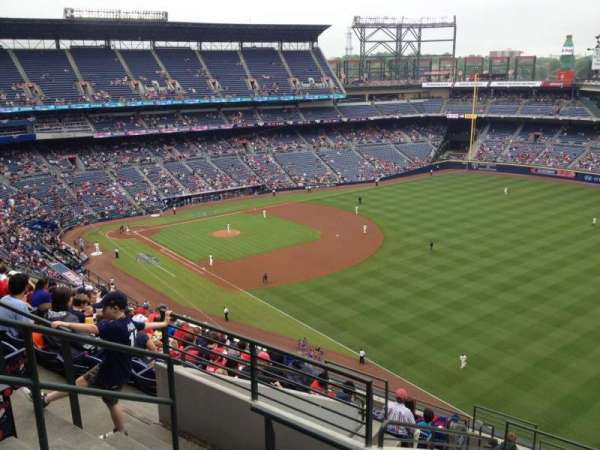 Turner Field, section: 423, row: 13, seat: 5