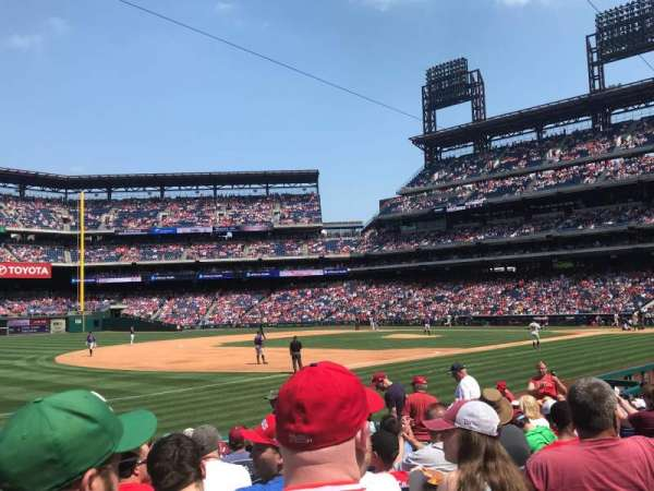 Citizens Bank Park, section: 135, row: 15, seat: 13