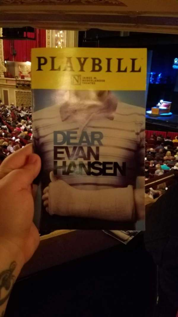 Nederlander Theatre (Chicago), section: Dress Circle R, row: HH, seat: 4