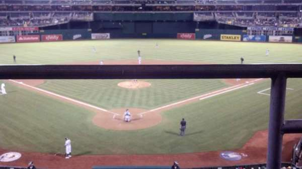 Oakland Coliseum, section: 217, row: 1, seat: 2