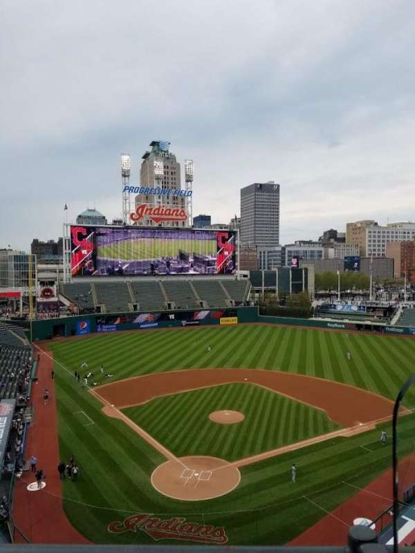 Progressive Field, section: 453, row: A, seat: 3