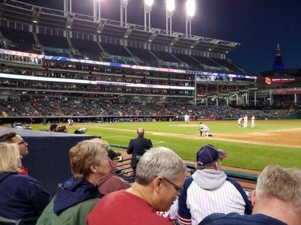 Progressive Field, section: 138, row: E, seat: 4