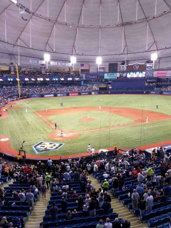 Tropicana Field, section: 204, row: A, seat: 4