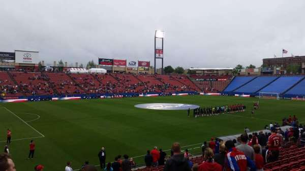 Toyota Stadium, section: 102, row: 17, seat: 20