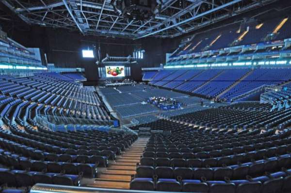 The O2 Arena, section: 410, row: A, seat: 687