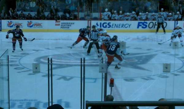 Nationwide Arena, section: 115, row: L, seat: 1