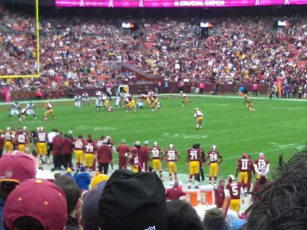 FedEx Field, section: 141, row: 17, seat: 8