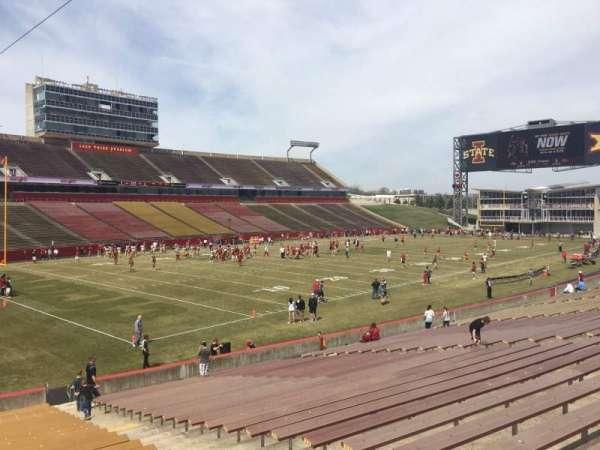 Jack Trice Stadium, section: 26, row: 27, seat: 7