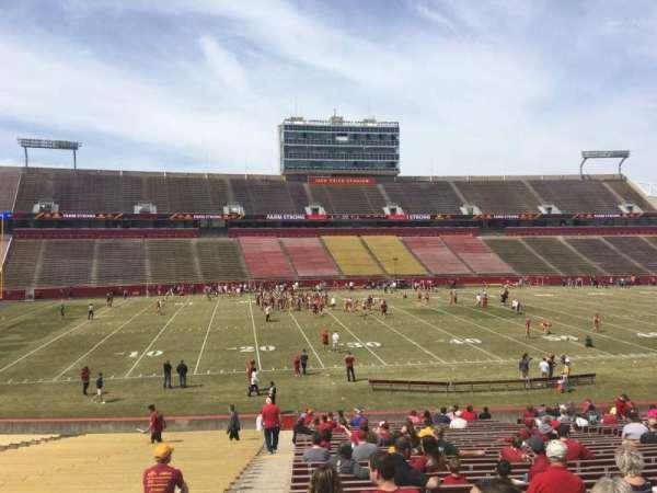 Jack Trice Stadium, section: 31, row: 34, seat: 1