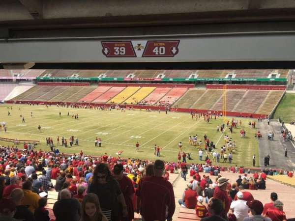Jack Trice Stadium, section: 40, row: 47, seat: 1