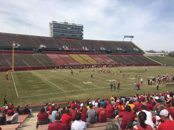 Jack Trice Stadium, section: 28, row: 27, seat: 1