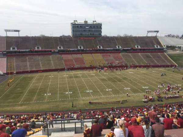 Jack Trice Stadium, section: V, row: 20, seat: 1