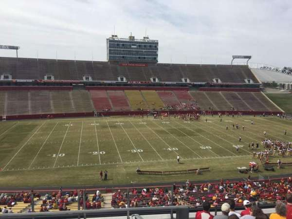 Jack Trice Stadium, section: V, row: 9, seat: 1