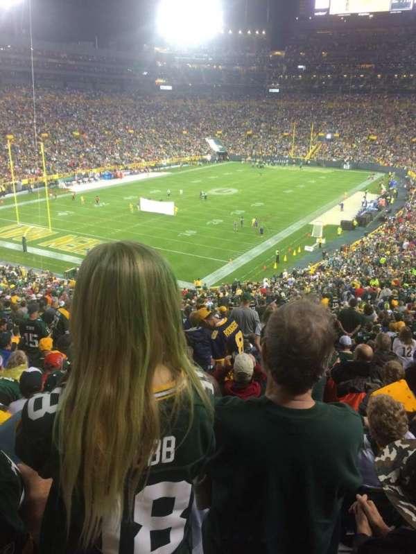 Lambeau Field, section: 106, row: 60, seat: 9