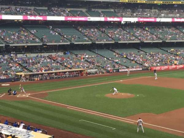 Miller Park, section: 210, row: 12, seat: 4
