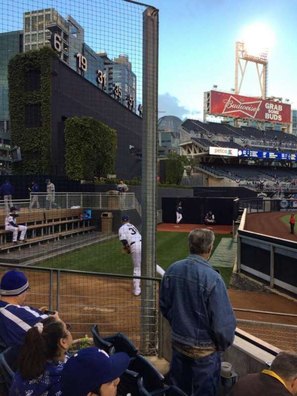 Petco Park, section: 134, row: 3, seat: 6