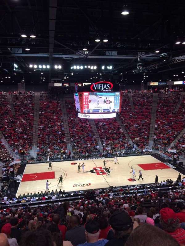 Viejas Arena, section: P, row: 33, seat: 12