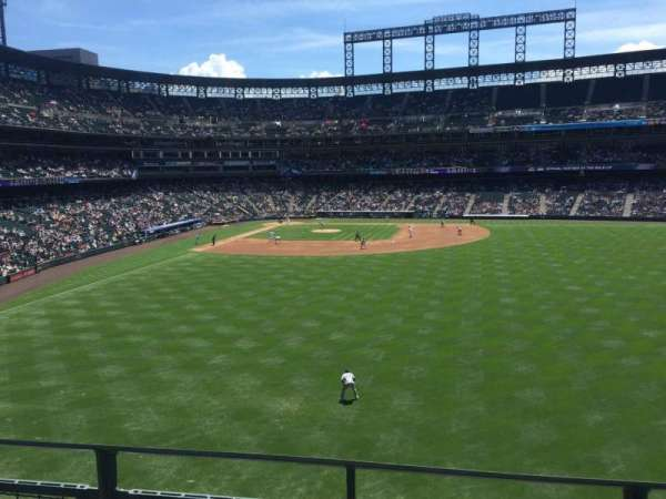 Coors Field, section: 205, row: 2, seat: 6