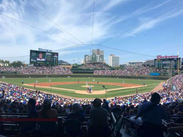 Wrigley Field, section: 220, row: 1, seat: 5