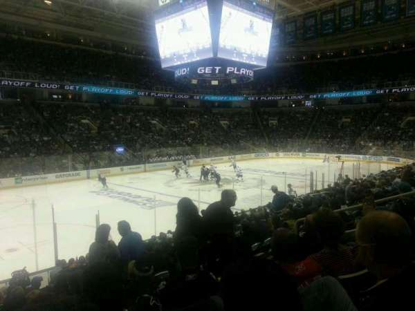 SAP Center, section: 117, row: 4, seat: 8
