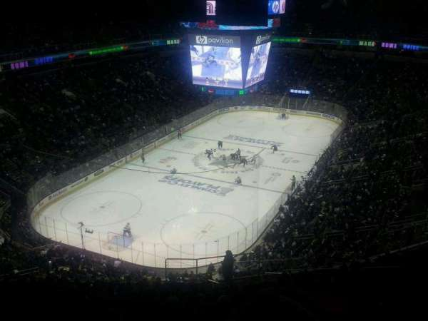 SAP Center, section: P21, row: 1, seat: 1