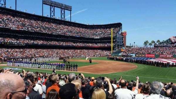 Oracle Park, section: 105, row: 19, seat: 8